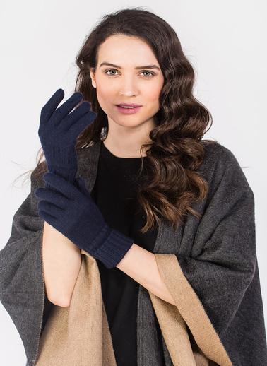 Silk and Cashmere Eldiven Lacivert